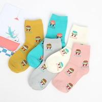 10pcs 5pairs Lot 2016 New Autumn And Winter Women S Socks Cute Harajuku Kawaii Cartoon Cotton