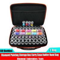 Diamond embroidery diamond painting tool! 60 Bottles Daimond transparent plastic storage box, jewelry Drill Storage Box Gift
