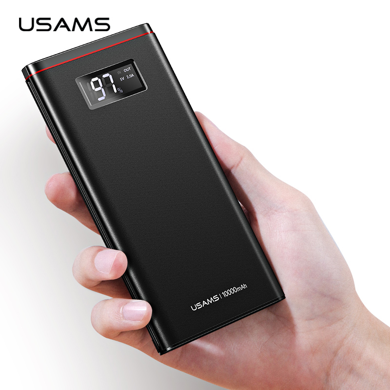 Advertising Slim 20000mah Power Bank Portable Ultra-thin Polymer Powerbank Battery Poverbank 30000mah With Led Light For Mobile Phone Good Heat Preservation