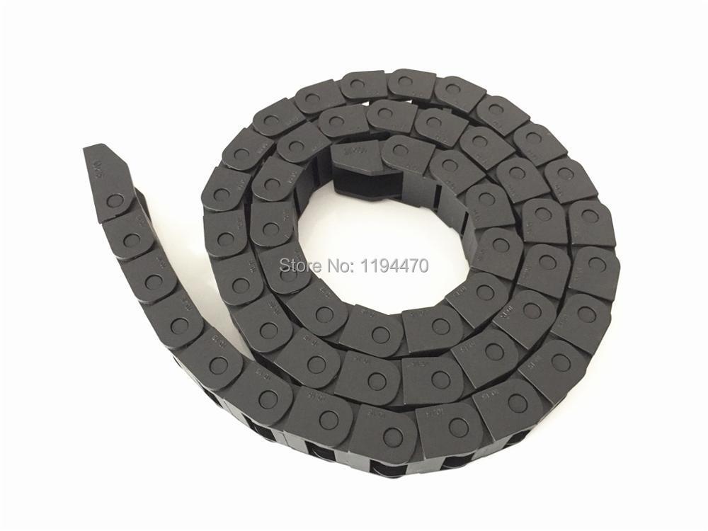 2 pcs/lote 10 x 15 mm R18 câble chaîne de glisser support de fil avec connecteur fin 10 mm x 15 mm L1000mm 40  pour 3D CNC Machine de routeur