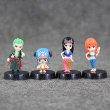 Mini Figures 8pcs Luffy Nami Usopp Robin Chopper Sanji Zoro Brook 3-5cm