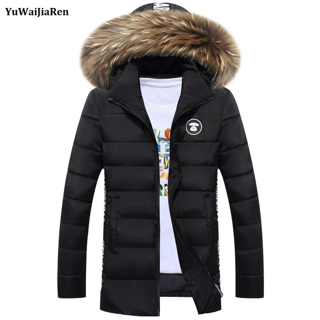 New Fashion Winter Coat Men Warm Down Male Hooded Long Thickening Cotton Jacket Outwear Casual Solid Parkas Veste Hiver Homme