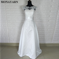 Wedding Dress 2017 Sweet Princess Embroidery Lace Train Wedding Dress Bride Good Quality Plus Size Bandage
