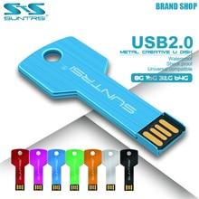 Suntrsi Mini USB Flash Drive 8GB 16GB 32GB Memory Stick USB2.0 Flash Drive 64GB External Storage Metal Pendrive With Custom LOGO