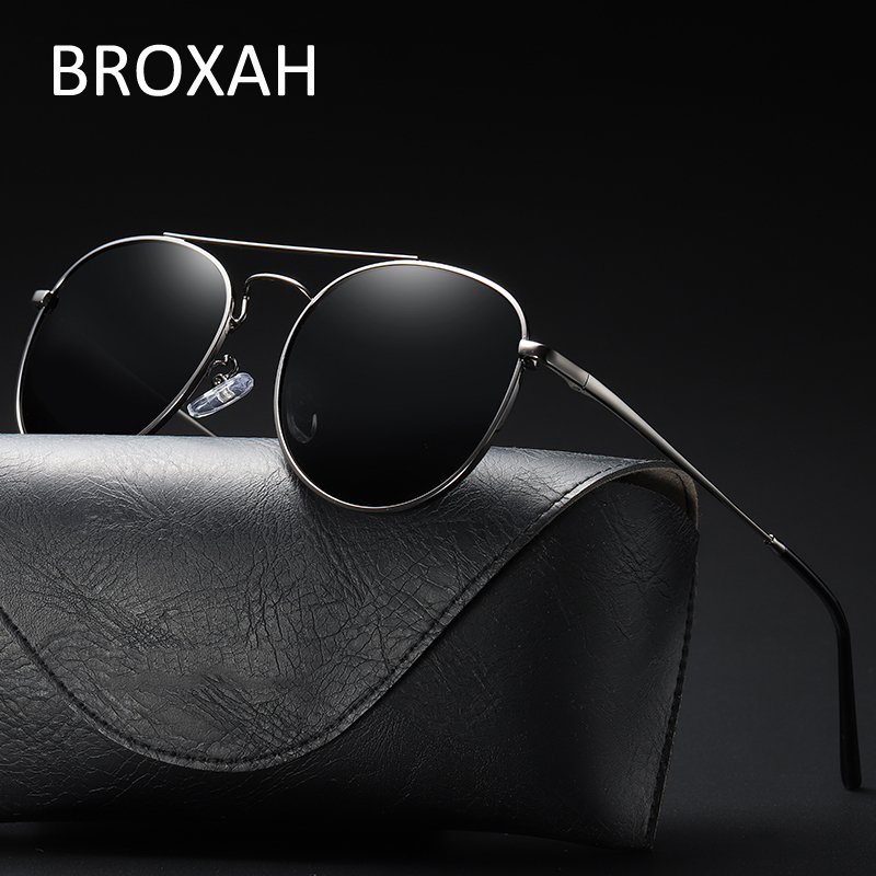Vintage Mens Polarized Sunglasses 2019 Classic Driving Glasses for Men Metal Eyeglasses Retro Shades UV400 Gafas De Sol Hombre in Men 39 s Sunglasses from Apparel Accessories