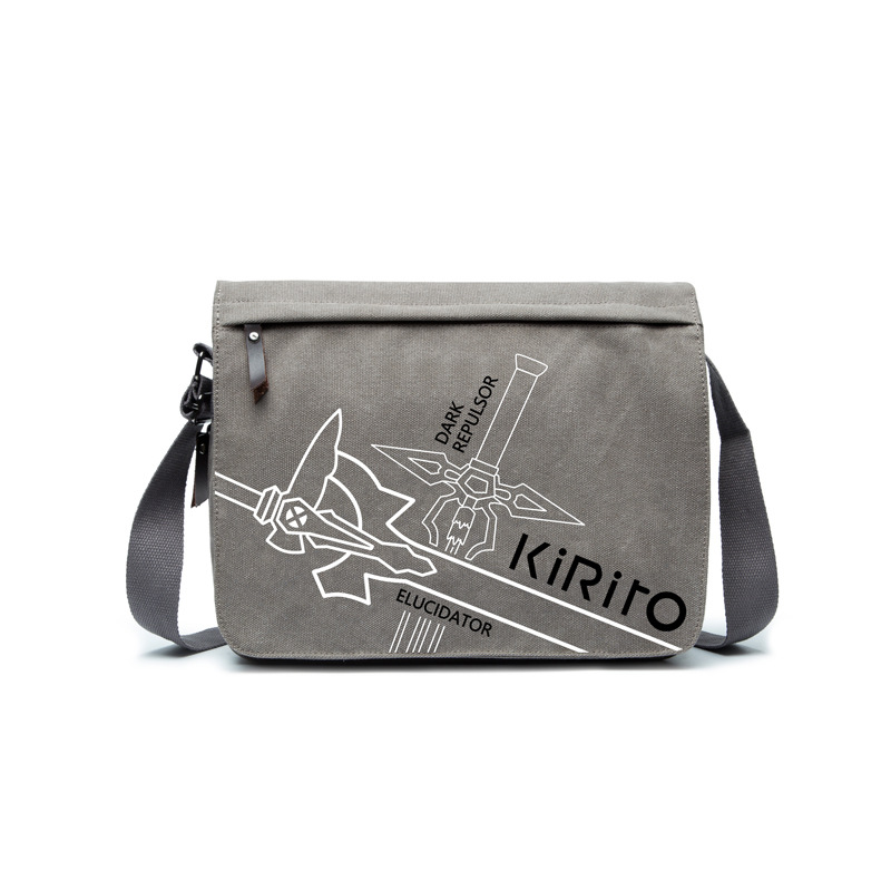 Sword art online new game Kirito bag shoulder bag canvas Dragon ball durable canvas bag gift for anime fans AB253-5