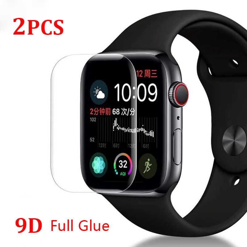 2Pcs/Lots Full Cover Protective Film For Apple Watch i Watch 38 40 42 44 mm Series 4 Soft Screen Protector ( Not Glass ) on 38mm