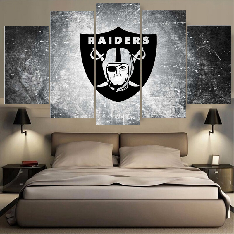 Wholesale New Arrivals Oakland Raiders Paintings Wall Art Home Decoration Unframed Canvas Oil Painting For Living