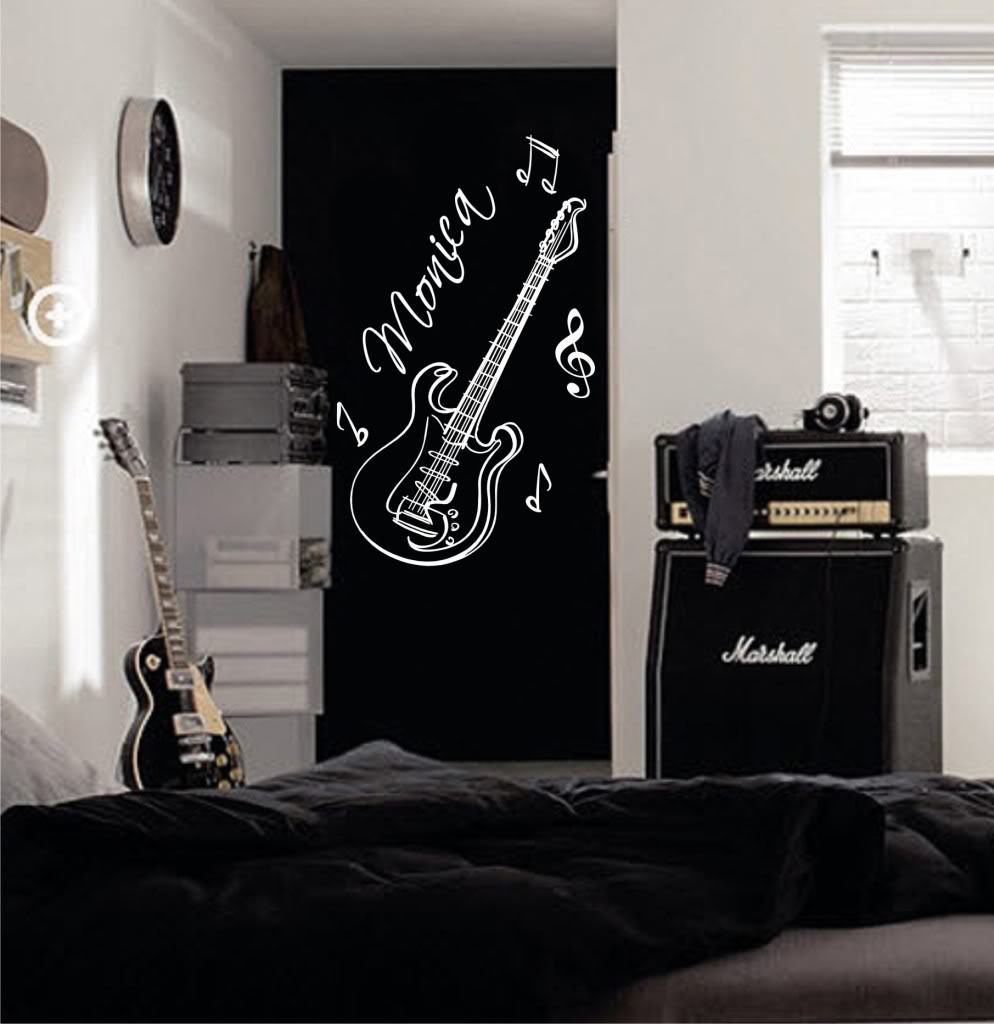 Custom Names Dacals Guitar Custom Name Music Vinyl Wall Decals - Custom vinyl decals for guitars