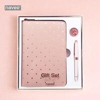 Never Pink Series Christmas Stationery Set Gift for Girls Teacher Notebook Metal Gel Pen Zipper Planner School & Office Supplies