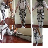 2017 Attack On Titan Cosplay Shingeki No Kyojin Cosplay Recon Corps Harness Belts Hookshot Costume belt suit Accessories