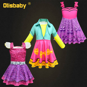 c345072a3f3ca Sonbahar Kız Lol Elbise Lol Doğum Günü parti giysileri Bebek Kız Uzun kollu  Elbise Lol Kostüm A-line Tam Kollu Prenses Elbise
