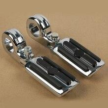 1 1/4″ 1.25″ 32mm Bars Highway Foot Peg Mount Footrest For Harley Touring Models