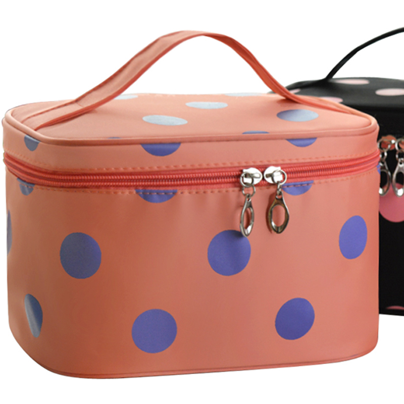ZUZURUNS women Portable Cosmetic Bag Large Capacity Waterproof Storage Washing Mail Makeup Box Small Portable Storage bag