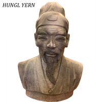 16cm People statue chinese sculpture craft Carved Handmade escultura Clay Customizable Wooden Home decor statues