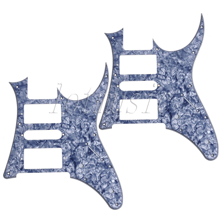 2pcs gray pearl HSH Guitar Pickguard  For Ibanez RG250 style replacement musiclily 3ply pvc outline pickguard for fenderstrat st guitar custom