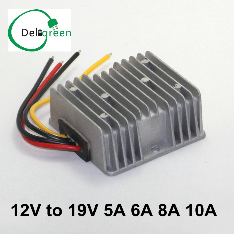 QNBBM DC12V to DC 19V 5A 6A 8A 10A step up power supply module regulator waterproof buck ...