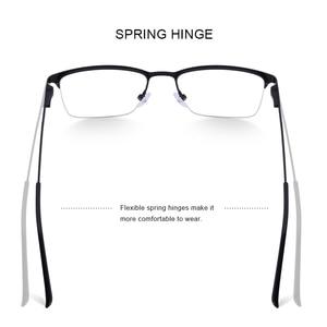 Image 4 - MERRYS DESIGN Men ไทเทเนี่ยมกรอบแว่นตาชายชายสแควร์ Ultralight สายตาสั้นแว่นตาชายครึ่ง S2125