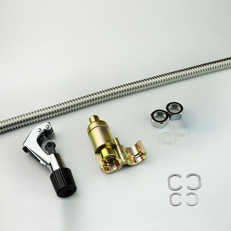 20 meter 304 Edelstahl Rohr 3/8 , 1/2 , 3/4 , 1 , 1,2 , 1,5 DIY Rohr Sanitär Schlauch Versenkbare Wasser Schlauch Wellrohr - 2