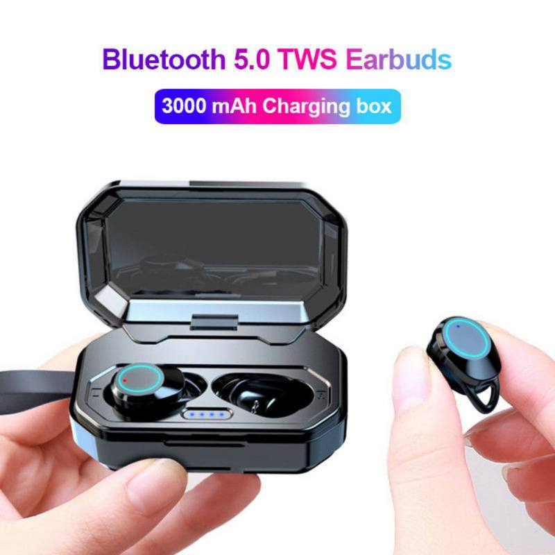 Advanced Touch Wireless Bluetooth 5.0 Earphones HIFI Subwoofer Stereo Headset IPX7 Waterproof with 3000mAh Power bank