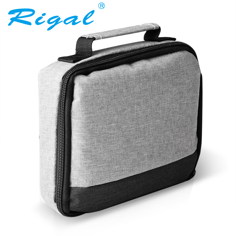 Rigal Portable DLP Projector Bag RD606 RD605 RD603 Projector Travel Case Hard Carrying Cover Beamer Bag Protective Carry Pouch