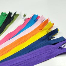 100PCS Mix Color 3# Close-End Invisible Nylon Zippers Bags Apparel Zipper DIY Sewing Accessories(China)