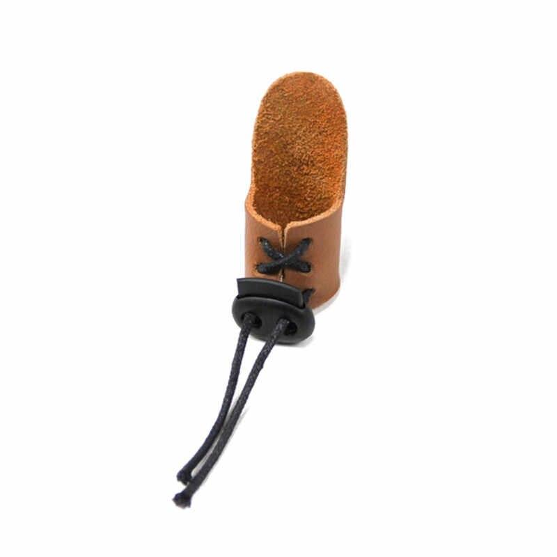 جديد الإبهام إصبع تلميح معدات الحماية علامة التبويب حلقة جلدية قابل للتعديل الصيد ممارسة الرماية سحب السهم برودهيدس اطلاق النار قفاز