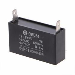 Генератор конденсаторного типа s Черный 12 мкФ генератор конденсаторного типа генератора CBB61 12 мкФ 50/60Hz 350VAC вентилятора