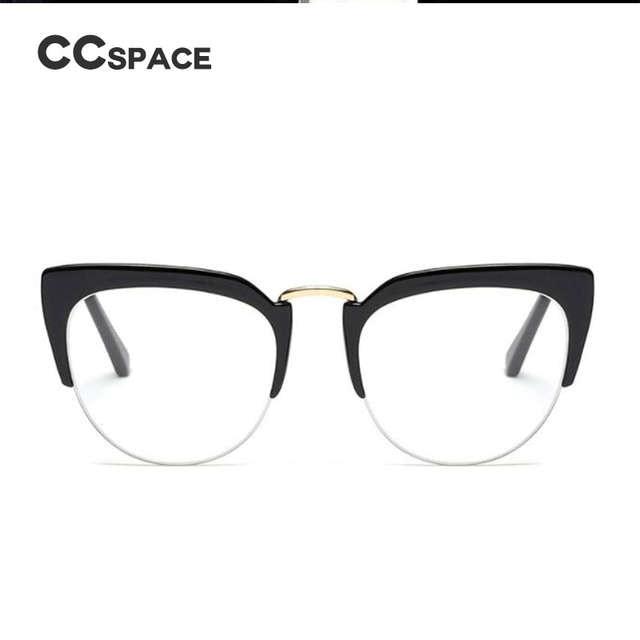d25e2bb518f CCSPACE Reading Cat Eye Ladies Glasses Frames Men Women Half Frame Brand  Designer Optical EyeGlasses Computer