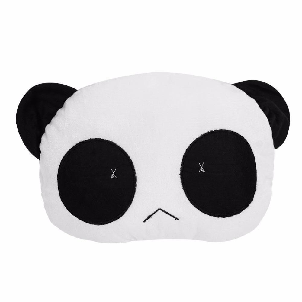 Lovely Panda Modeling Doll Pillow Car Head Rest Travel Neck Pillow Home Decor Cushion Mat Bedding Sofa Baby Stuffed Toy Gift