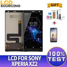 شاشة 5.7 بوصة LCD لسوني اريكسون XZ2 H8216 H8266 H8276 H8296 شاشة تعمل باللمس محول الأرقام الجمعية لاستبدال سوني XZ2 LCD