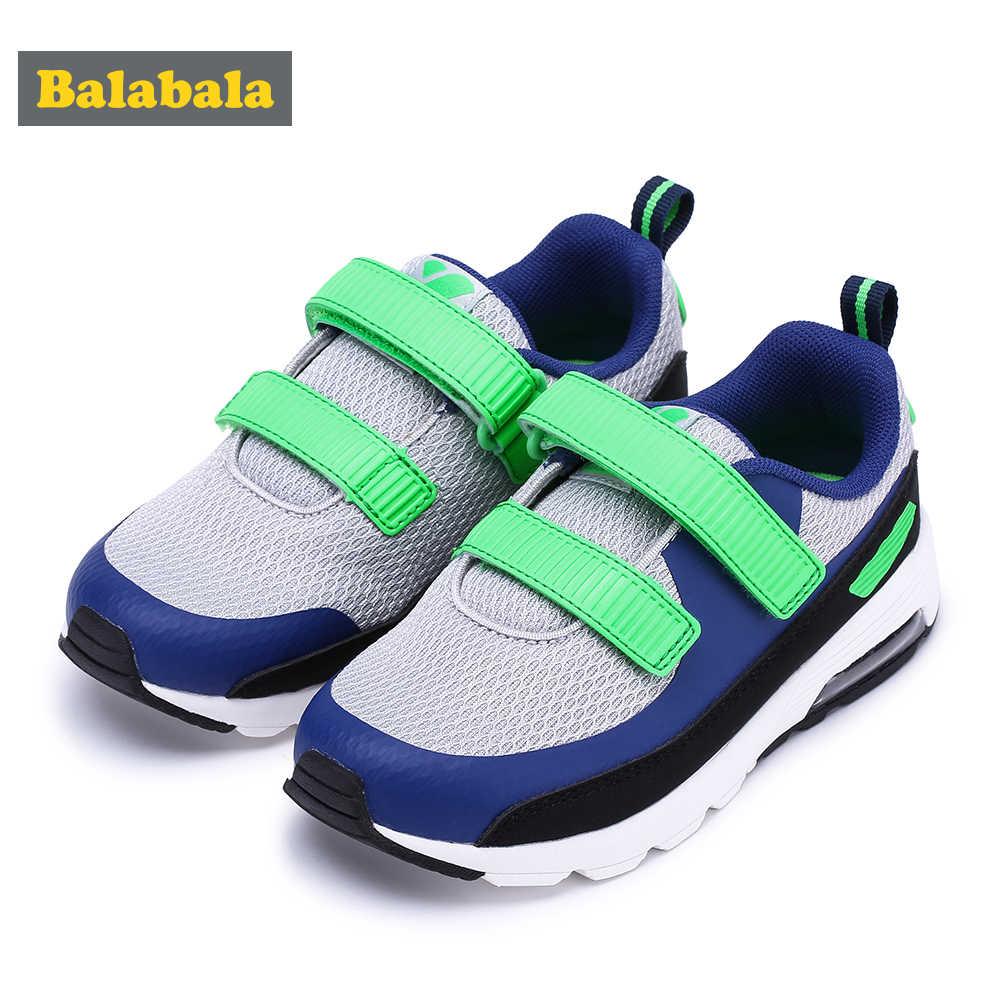 Balabala Kinder Kid Atmungs Trainer mit Doppel Haken & Schleife Verschluss Kleinkind Mädchen Jungen Anti-slip Boost Sneaker Laufschuhe schuhe