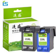 2Pcs/set 21xl 22xl Refilled ink cartridge replacement For hp 21 22 compatible For HP Deskjet f4180 f2180 3930 3940 D1311 D2360