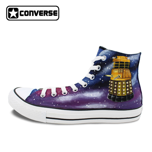 e9bb82b754 Design Men Women Converse Chuck Taylor Shoes Hand Painted Galaxy Police Box  Athletic High Top Canvas Sneakers Gifts Presents-in Skateboarding Shoes ...