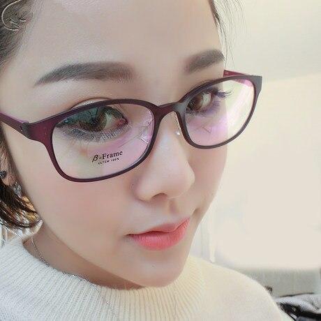 Gilrs TR 90 Optical Glasses Frame for Prescription Eyeglasses Black Red Purple Blue Frame Cute Sweet