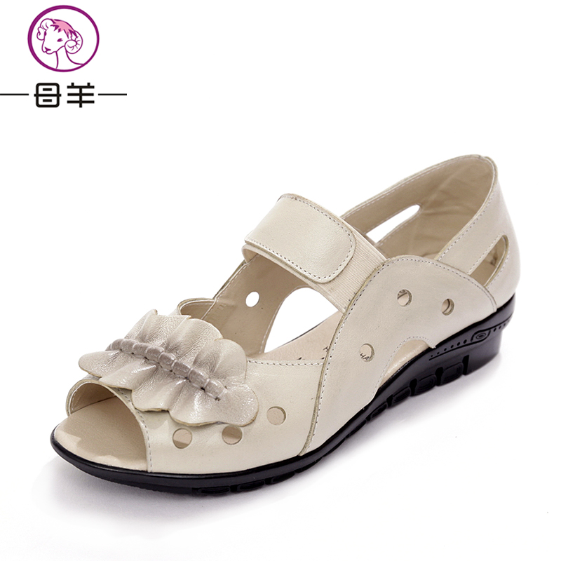 Summer 2017   flats  women genuine  leather flat  shoes sandals Soft - Women's Shoes
