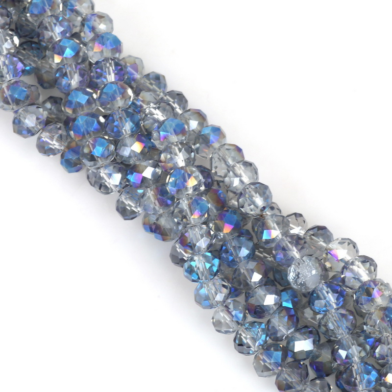 2, 3, 4, 6, 8 мм около 70-195 шт хрустальные бусины AB разноцветные стеклянные бусины Sapcer для изготовления ювелирных изделий DIY браслет ручной работы оптом - Цвет: Dark Blue Plated