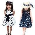 Summer Baby Girl Ribbon Dresses Cotton Children Girls Clothing Polka Dot Wave Point Sundress Kids Clothes Dress