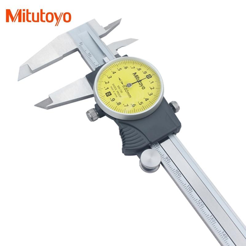 Orginal Mitutoyo 505-730 Dial Caliper 0-150mm 0.02mm Shock-Proof Vernier Calipers Micrometer measuring Tools New цена