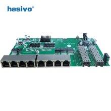Interrupteur PoE inversé 8x1 M/100M/1000M, Port & 2 SFP Ethernet Gigabit, carte mère PCB