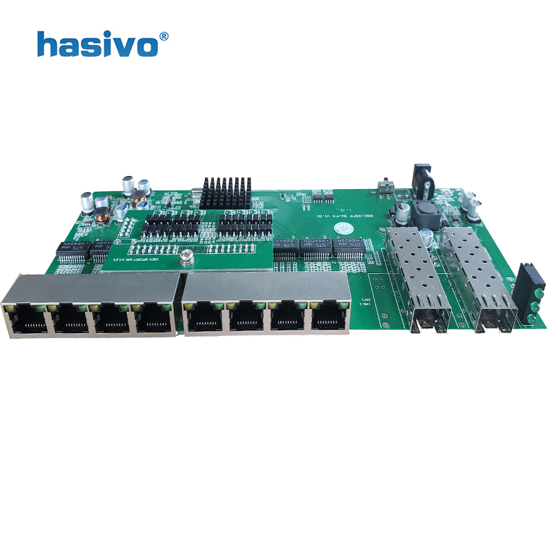 Reverse  PoE switch  8x10M/100M/1000M Port & 2 SFP  Gigabit Ethernet switch  PCB motherboard-in Network Switches from Computer & Office