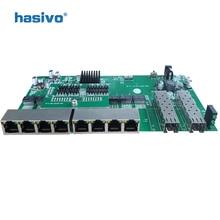 Ters PoE anahtarı 8x10 M/100 M/1000 M Portu ve 2 SFP Gigabit Ethernet anahtarı PCB anakart