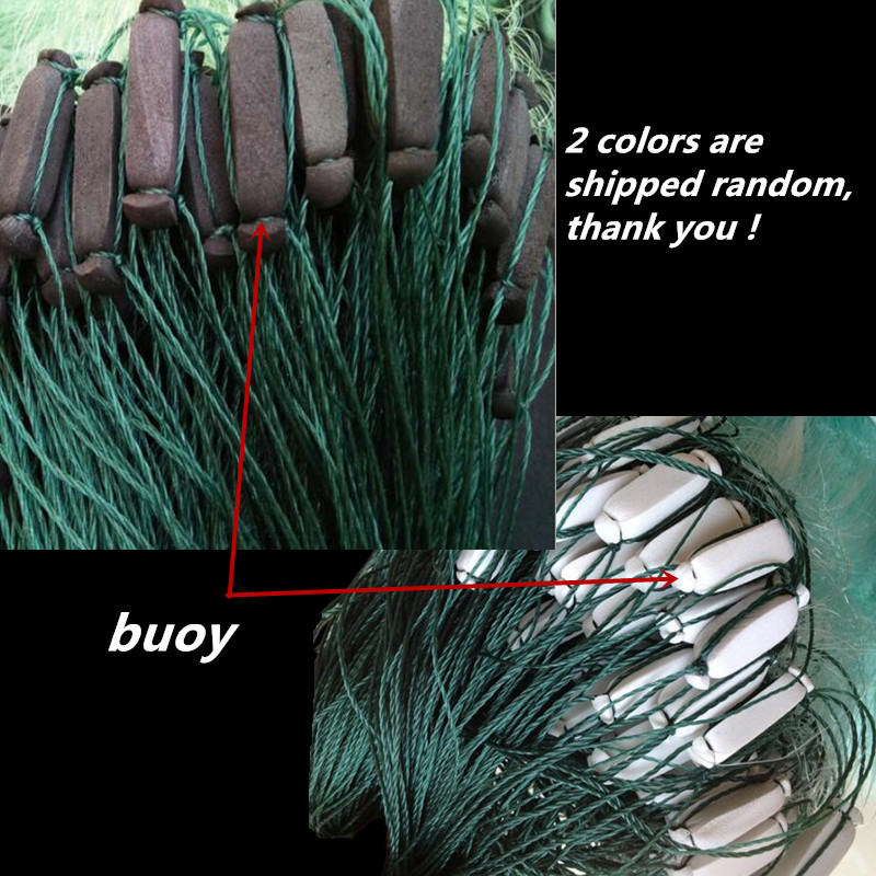 quality strong line gill net H5 L100m 3layer 7 5cm mesh fishing net china fish trap fishing network potes rede de pesca sink net in Fishing Net from Sports Entertainment