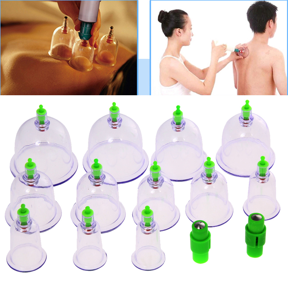 12pcs Magnetic Vacuum cans Massage Suction sucker Cup Acupuncture Massage vacuum Cupping Therapy Set Cupping Explosion-proof