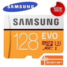 SAMSUNG Nuevo EVO Tarjeta de Memoria MicroSD de 128 GB Class10 de Tarjeta de Memoria Flash Trans TF Tarjeta SDXC UHS-I C10 U3 100 MB/S Para Smartphone Tablet etc