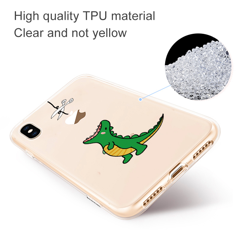 Soft Silicone TPU Cool Pattern Phone Shell For iPhone Models 11