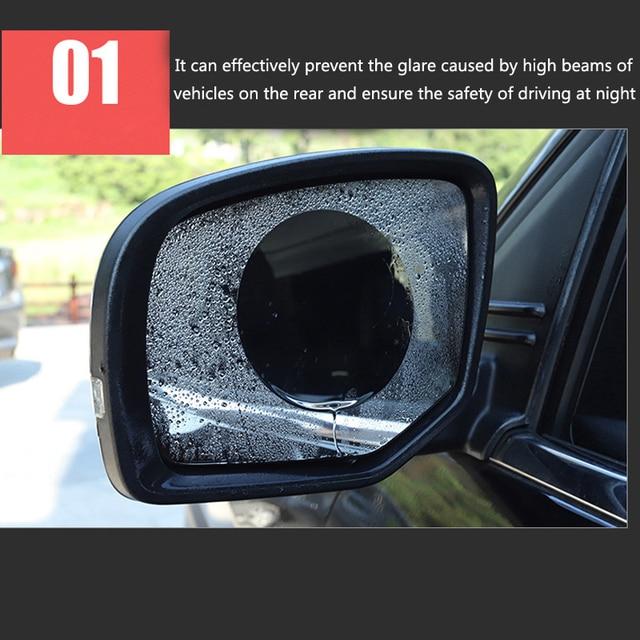 Фото 2 шт автомобиля зеркало окно совсем прозрачную пленку затемняемые