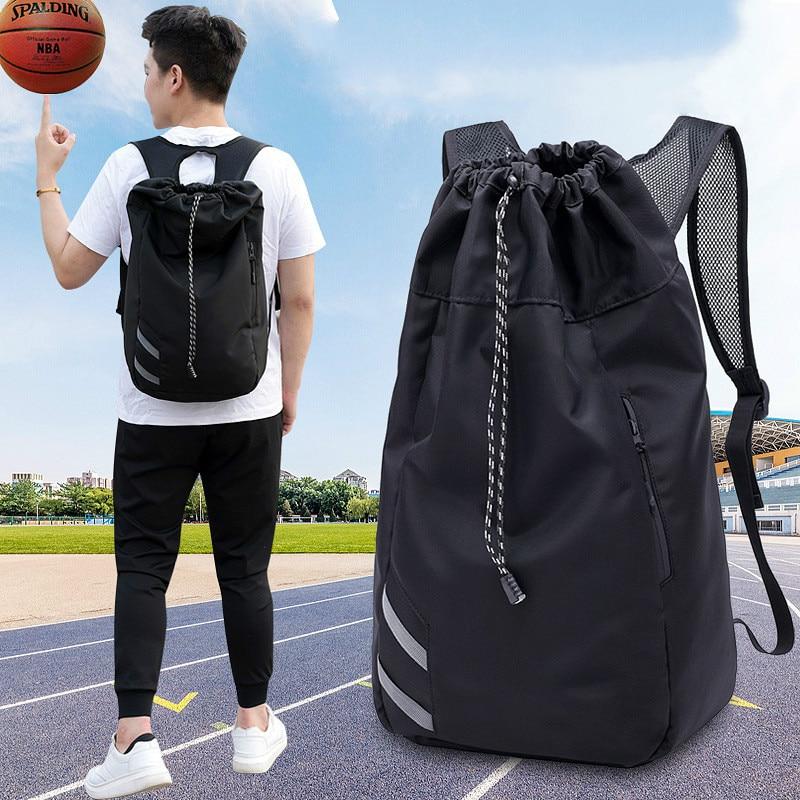 Drawstring Backpack Oxford Cloth Bucket Drawstring Waterproof Outdoor Sports Soccer Football Basketball Backpack Bags
