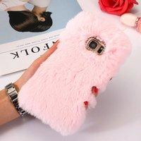 Phone Case For Samsung Galaxy S7 S7 Edge Case Cover Luxury Warm Soft Rabbit Fur Phone
