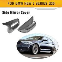 Carbon Fiber Car Rearview Mirror Covers for BMW 5 Series G30 G38 7 Series G11 G12 4 Door 2018 2019  ABS Mirror Caps Not for M